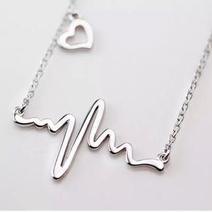 Jewelry - NEW! heartbeat necklace in silver